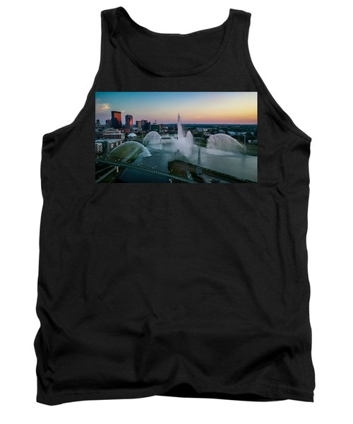 Twilight At The Fountains Tank Top