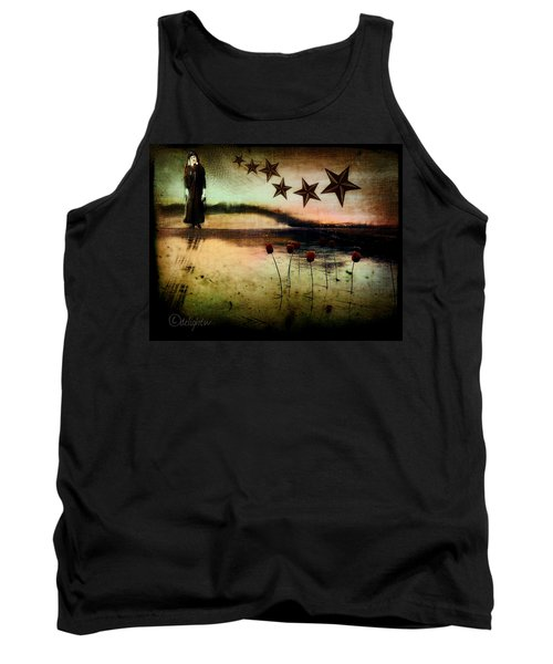 Tank Top featuring the digital art Twilight by Delight Worthyn