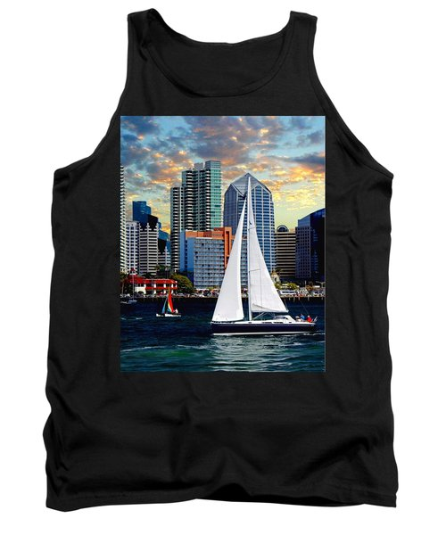 Twilight Harbor Curise1 Tank Top by Chambers and  De Forge