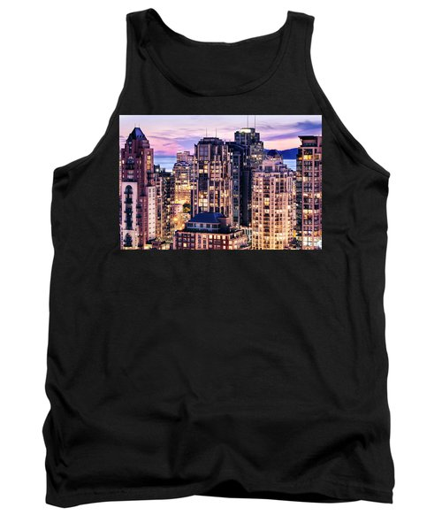 Twilight Over English Bay Vancouver Tank Top by Amyn Nasser