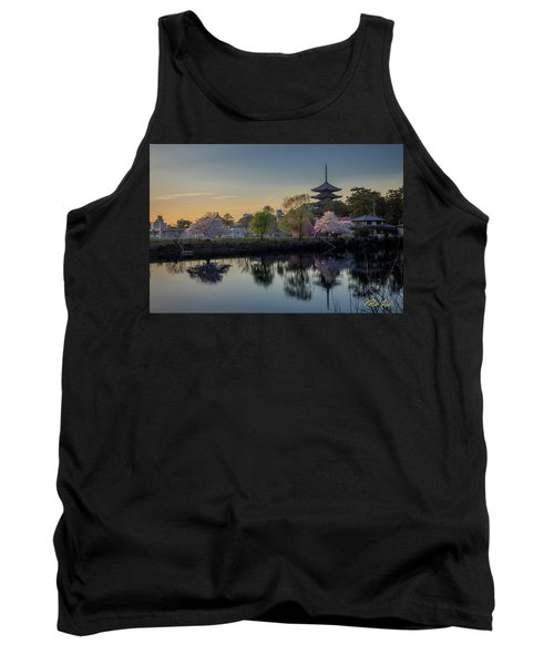 Tank Top featuring the photograph Twilight Temple by Rikk Flohr