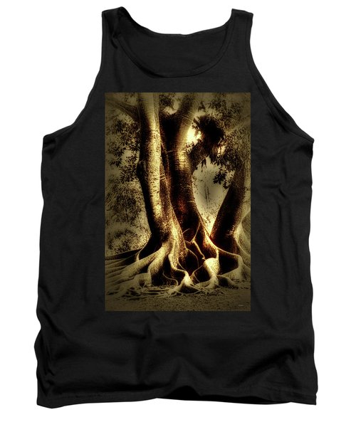 Tank Top featuring the photograph Twisted Trees by Tom Prendergast