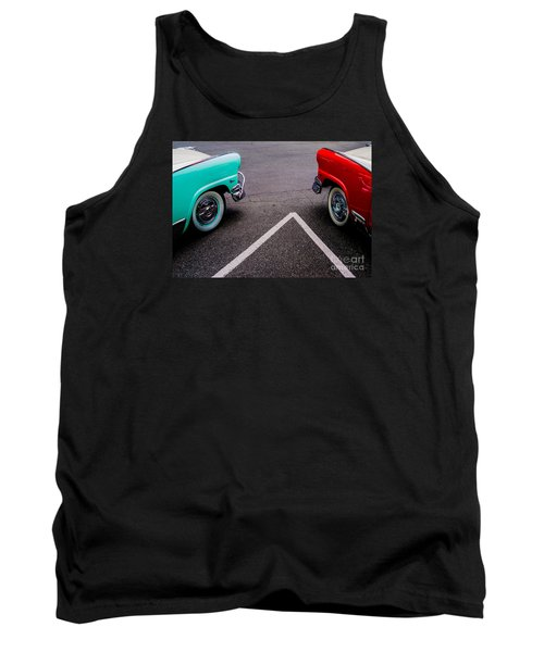 Tank Top featuring the photograph Two 1958 Ford Crown Victorias by M G Whittingham