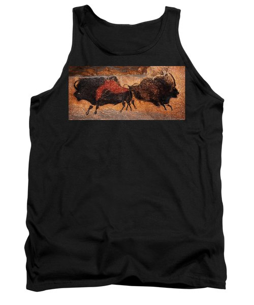 Two Bisons Running Tank Top