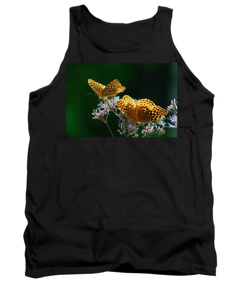Two Fritillaries Tank Top by Kathryn Meyer