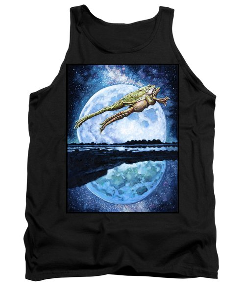 Two Frogs In Love Tank Top by John Lautermilch