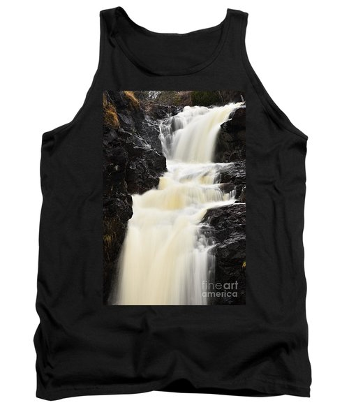 Tank Top featuring the photograph Two Island River Waterfall by Larry Ricker