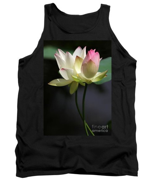 Two Lotus Flowers Tank Top