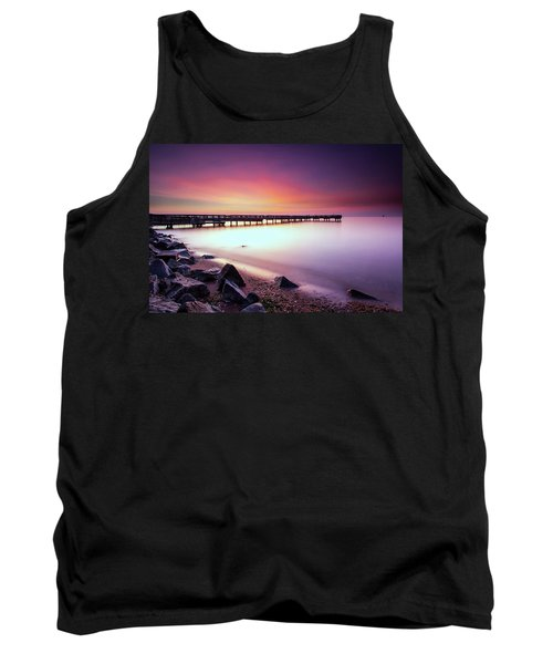 Two Minutes Of Blue Hour   Tank Top by Edward Kreis