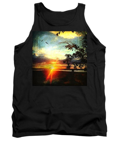 Two Souls Flying Off Into The Sunset  Tank Top by Debra Martz