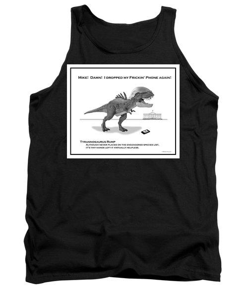 Tyrannosaurus Rump Bw Tank Top