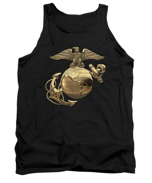 U S M C Eagle Globe And Anchor - N C O And Enlisted E G A Over Black Velvet Tank Top