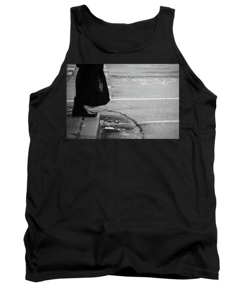 Tank Top featuring the photograph U Stopped Me On My Tracks  by Empty Wall