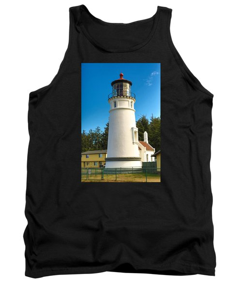 Tank Top featuring the tapestry - textile Umpqua River Lighthouse by Dennis Bucklin