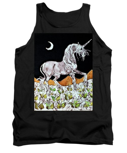 Unicorn Over Flower Field Tank Top