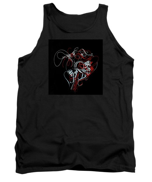 Union. Calligraphic Abstract Tank Top