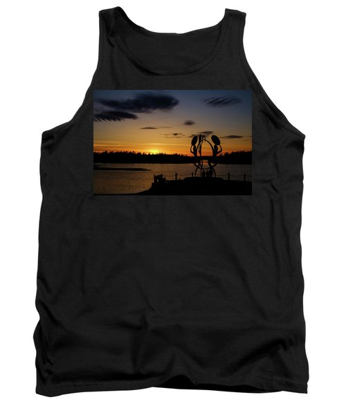 United In Celebration Sculpture At Sunset 6 Tank Top by John McArthur