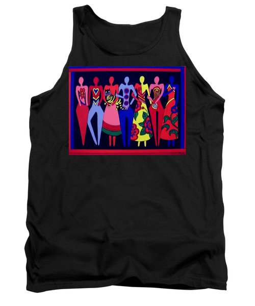 Tank Top featuring the painting Unity 1 by Stephanie Moore