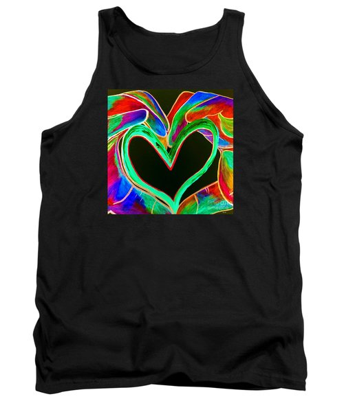 Universal Sign For Love Tank Top by Eloise Schneider