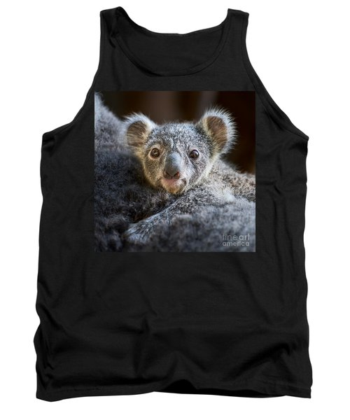 Up Close Koala Joey Tank Top by Jamie Pham