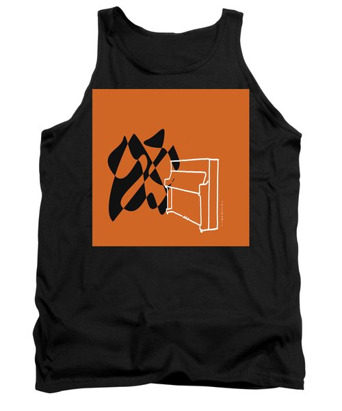Tank Top featuring the digital art Upright Piano In Orange by Jazz DaBri