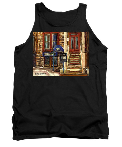 Upstairs Jazz Bar And Grill Montreal Tank Top