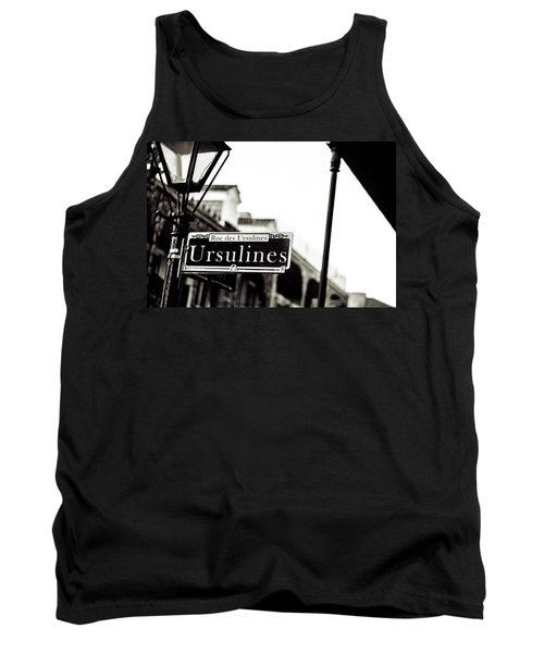 Ursulines In Monotone, New Orleans, Louisiana Tank Top