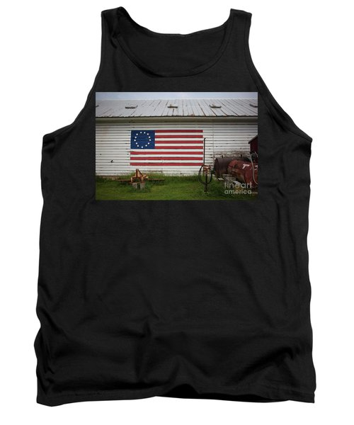 Us Flag Barn Tank Top