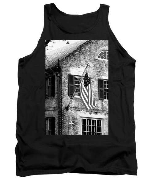 Us Flag In Colonial Williamsbug Tank Top