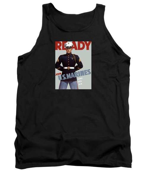 Us Marines - Ready Tank Top by War Is Hell Store