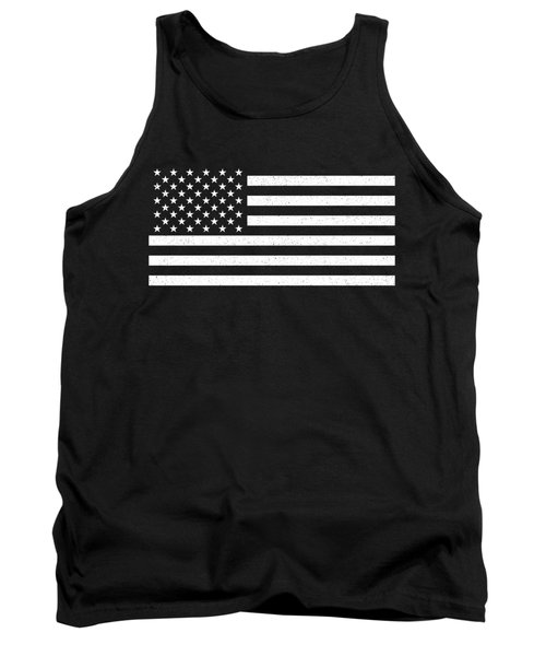 Tank Top featuring the digital art Usa Flag Hidef Super Grunge Patina by Bruce Stanfield