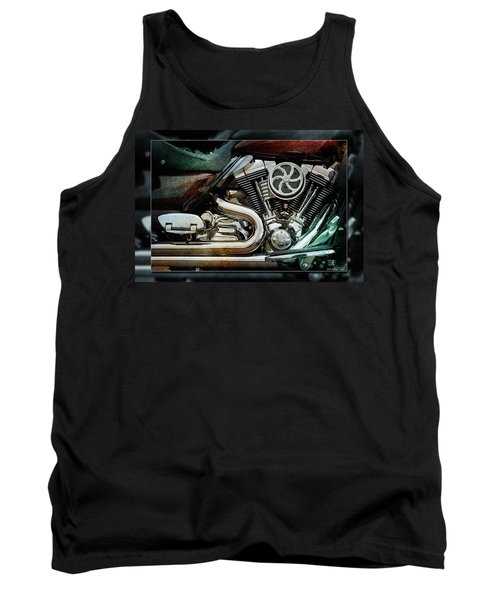 Tank Top featuring the photograph V Twin by WB Johnston