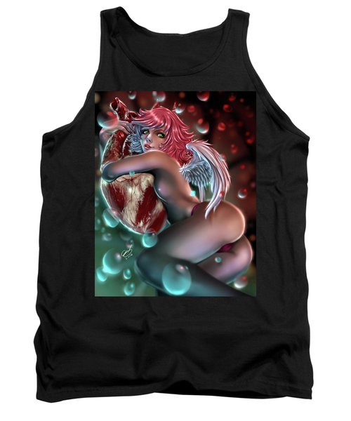 Tank Top featuring the painting Valentine's Day by Pete Tapang