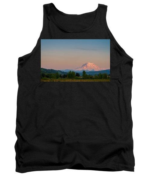 Valley Sunset Of Mt Rainier Tank Top by Ken Stanback