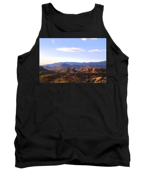Tank Top featuring the photograph Vasquez Rocks Sky And Stones by Viktor Savchenko