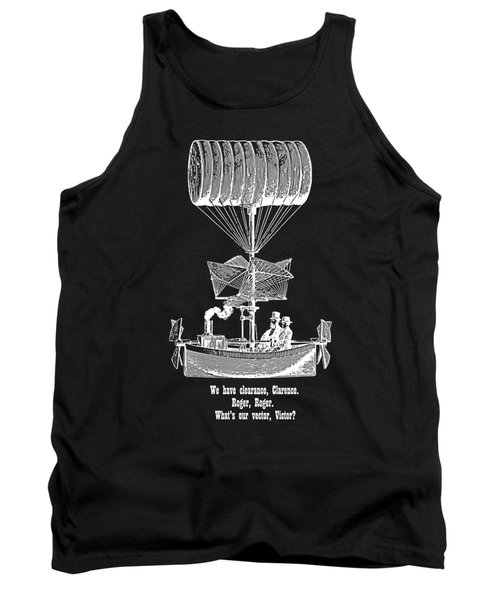 Vector Victor Vintage Airship White Transparent Tank Top