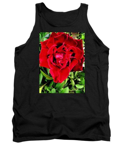 Velvet Red Rose Tank Top