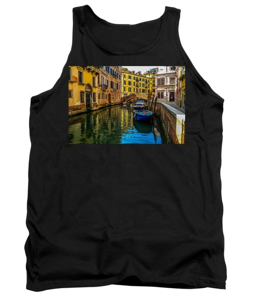 Venice Canal In Italy Tank Top by Marilyn Burton