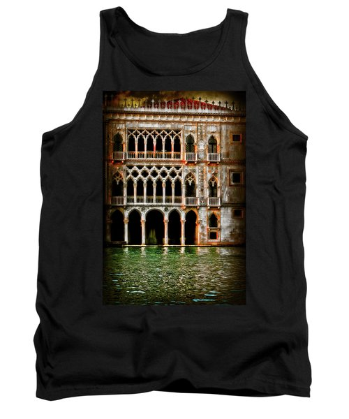 Tank Top featuring the photograph Venice Palace  by Harry Spitz