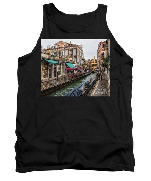 Tank Top featuring the photograph Venice 'streets' by Shirley Mangini