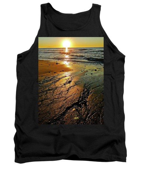Ventura Beach Winter Sunset Tank Top