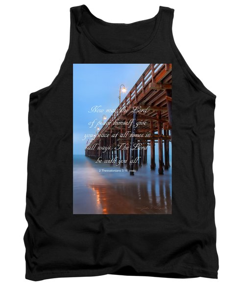 Ventura Ca Pier With Bible Verse Tank Top