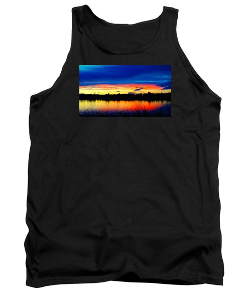 Vermillion Sunset Tank Top by Eric Dee