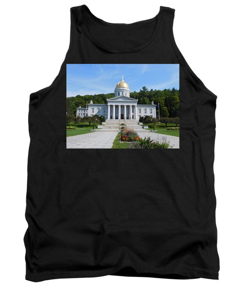 Vermont State House Tank Top by Catherine Gagne