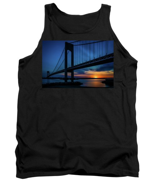 Tank Top featuring the photograph Verrazano Sunset by Chris Lord