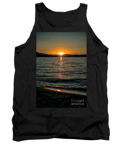 Vertical Sunset Lake Tank Top
