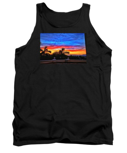 Tank Top featuring the photograph Vibrant Sunset In Mexico by Nikki McInnes