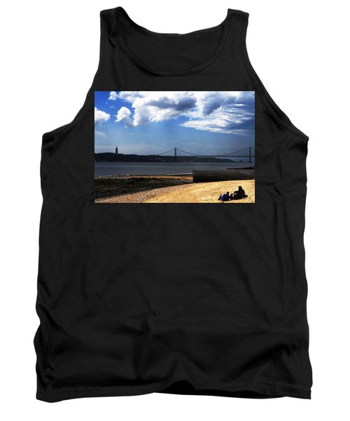 Tank Top featuring the photograph View From Across The Tagus by Lorraine Devon Wilke
