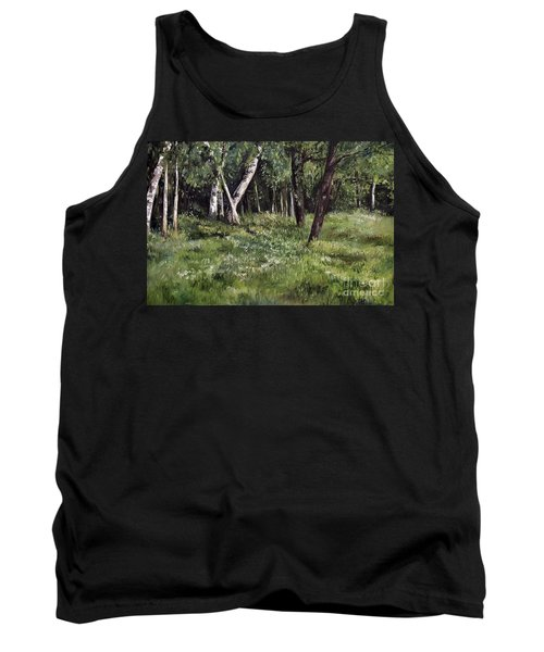 Tank Top featuring the painting View From My Studio by Laurie Rohner