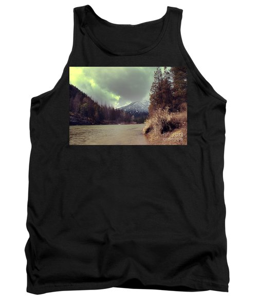 View On The Blackfoot River Tank Top by Janie Johnson
